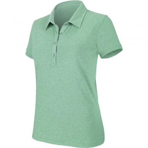 """Polo manches courtes """"mélange"""" femme - vert chiné"""